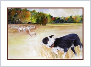 Kathy Kawalec's Maya captured in a painting by Bev Gross