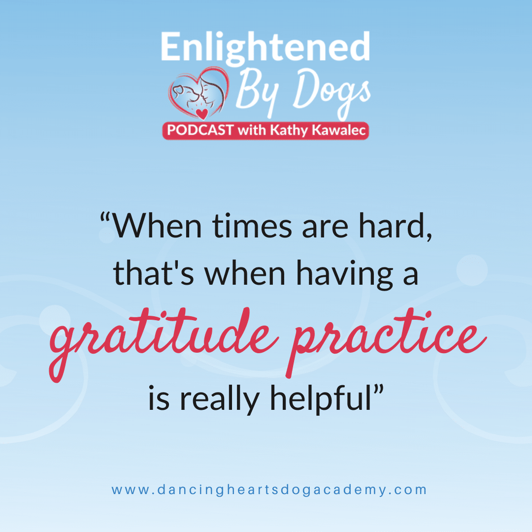 """""""When times are hard, that's when having a gratitude practice is really helpful"""""""