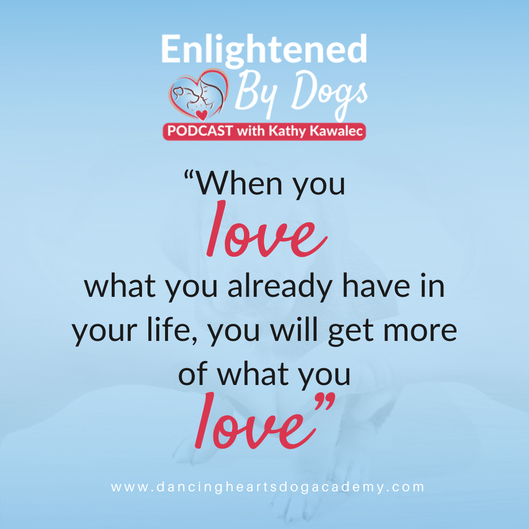 When you love what you already have in your life, you will get more of what you love