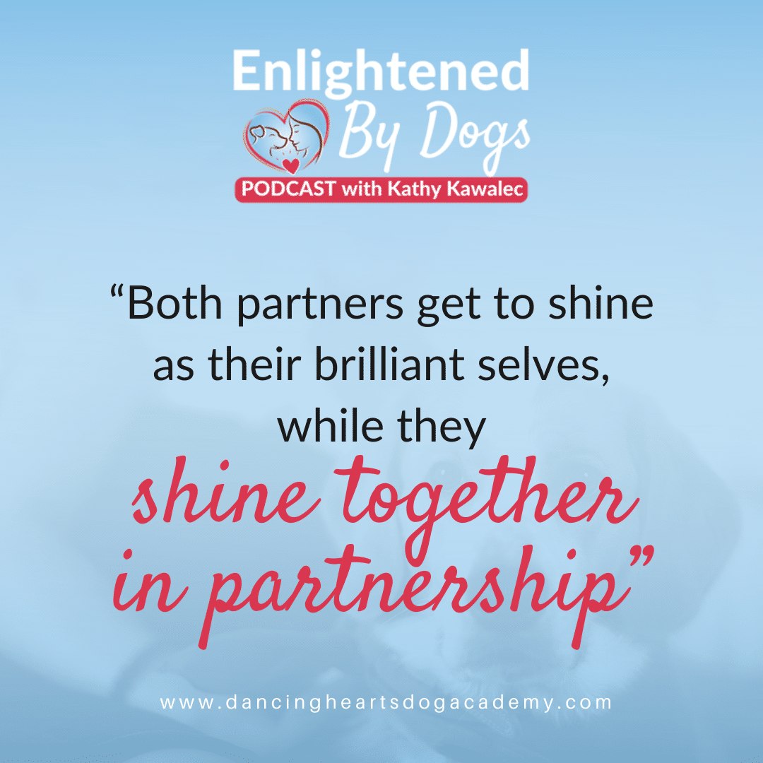"""Both partners get to shine as their brilliant selves, while they shine together in partnership"""