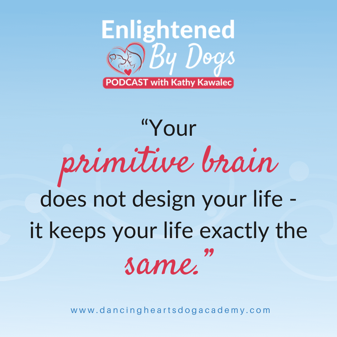 """Your primitive brain does not design your life - it keeps your life exactly the same."""