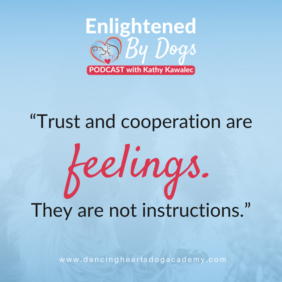 Trust and cooperation are feelings. They are not instructions
